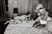 christie [sic] turlington and kara young, the panoramic view, montauk, ny by sante d'orazio